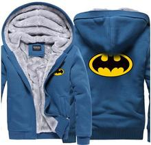 2017 Superman Hoodies Warme Liner Die Flash Männlichen Mantel Jacke Batman Hoodies Winter Männer Dicke Superman cosplay Sweatshirts Blazer