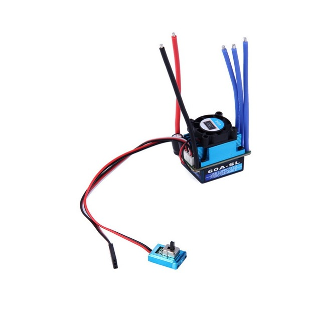 Racing 60A ESC Brushless Electric Speed Controller For 1:10 RC Car Truck VZHW2930