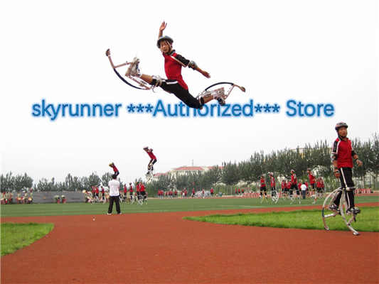 Jumping Stilts Skyrunner For Adult Black Weight 155~200 Lbs/70~90kg Man Or Woman Jump Stilt Exercise Equipment Outdoors Games