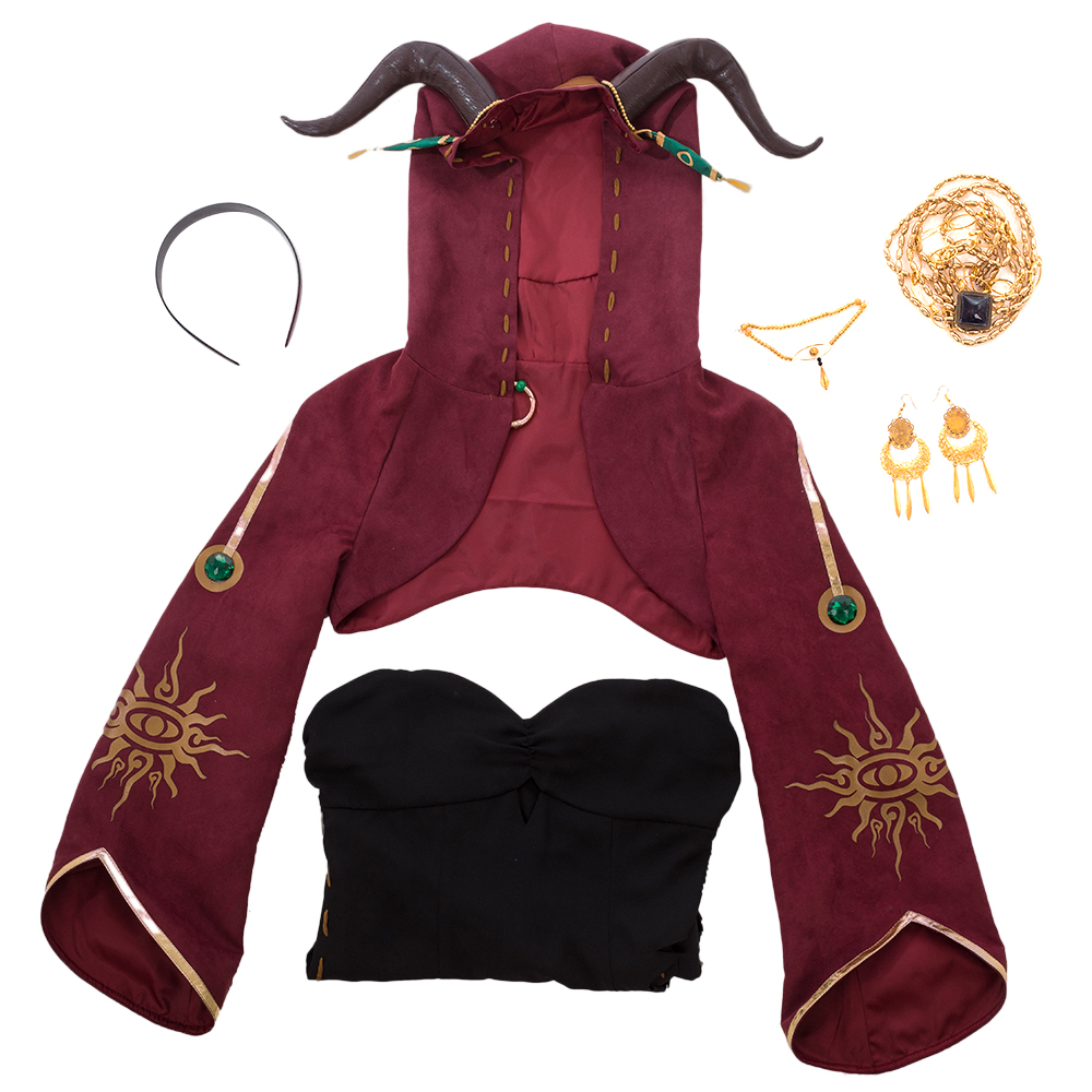 Image 5 - Game Identity V Cosplay Costume Sacrifice Fiona Gilman Cosplay Costume Halloween Christmas Party Witch Women Customized-in Game Costumes from Novelty & Special Use