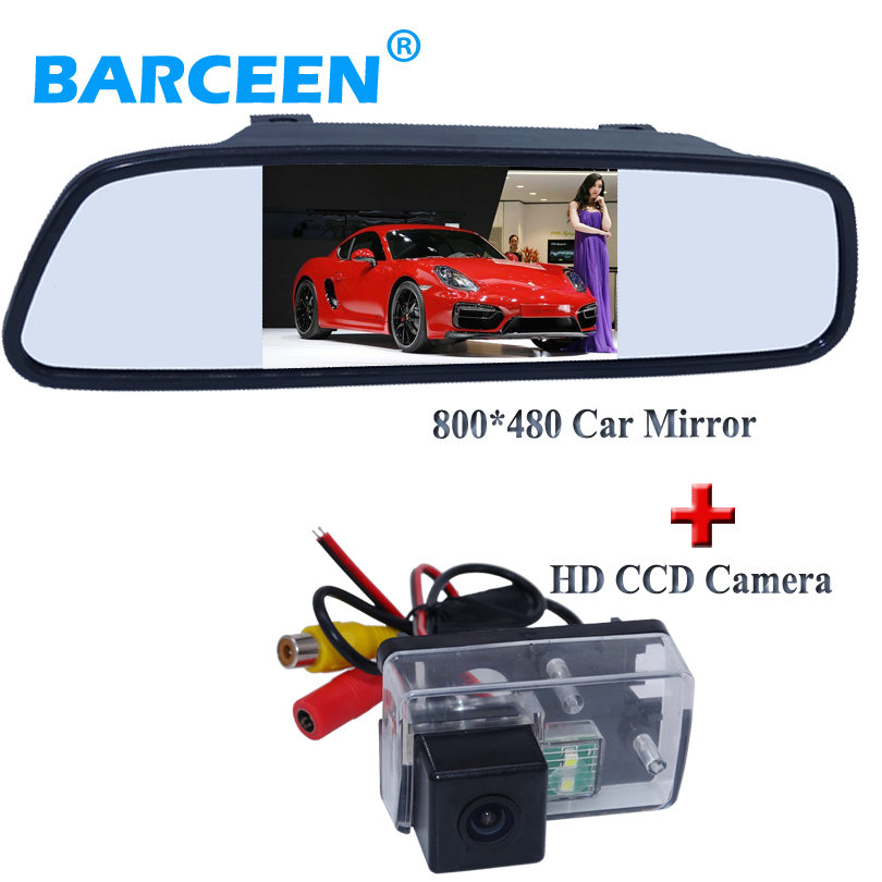 Appliquer pour Peugeot 206/207/407/307 (berline)/307SM voiture caméra arrière avec 800*480 résolution voiture miroir 4.3