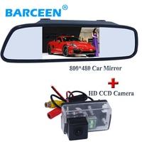 Apply for Peugeot 206/ 207/407/307(Sedan)/307SM car rearveiw camera with 800*480 resolution car mirror 4.3 wide screen