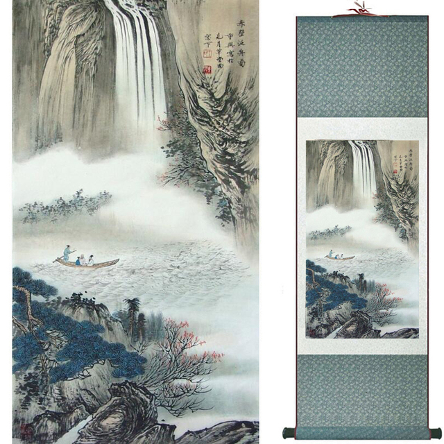 landscape painting home office decoration chinese scroll painting