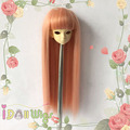 Top selling straight peachpuff pink BJD doll wig shedding free 1/3 1/4 1/6 1/8 for choice