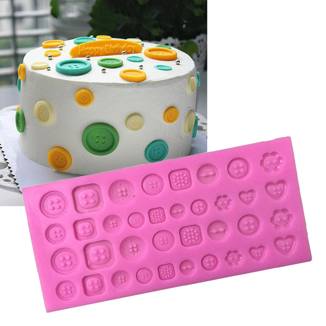 Big Size Buttons Shape,3D Silicone Fondant Cake Mold. For Cake Decorating, Jelly, Chocolate, Soap Modeling X115