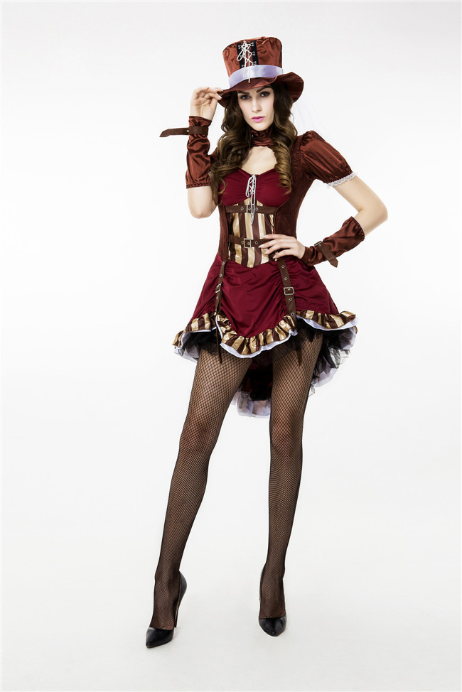 Vocole Sexy Pirate Cosplay Costume Adult Women Corsair Vampire Halloween Party Fancy Dress Novelty & Special Use