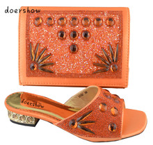 Doershow Бесплатная доставка! Лидер продаж обувь Сумочки в комплекте, итальянский дизайн обувь и комплект с сумкой с блестящими камнями, размер 38–43! HP1-50