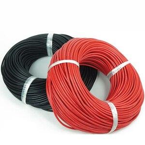 Image 2 - 5 メートル赤 + 5 メートル黒シリコンワイヤー 14AWG 耐熱ソフトシリコンシリカゲル電線の接続ケーブル RC モデルのバッテリー