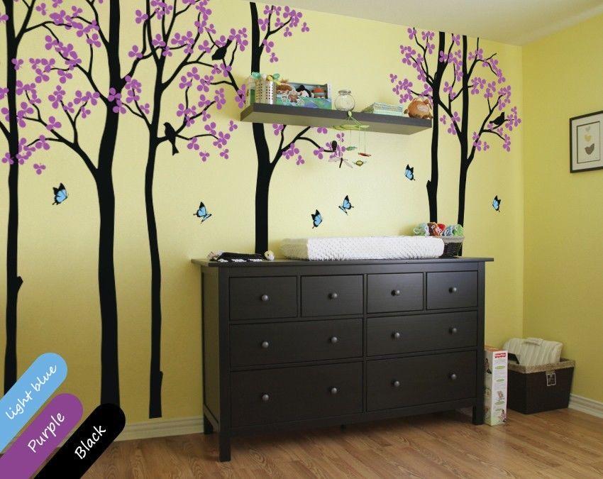 Popular nursery decorations unisex buy cheap nursery for Diy tree mural nursery