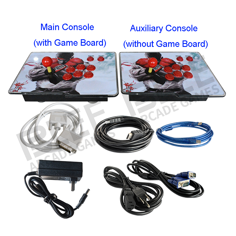 Box 6S jamma 1388 in 1 Arcade Game 2 players mini Console Games LED Acrylic panel