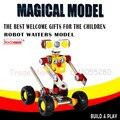 3D робот монтажный комплект образования детей собраны тип 3D логические игрушки, металл модель автомобиля игрушка сборки подарок