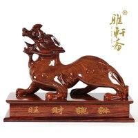 Dongyang резьба по дереву ремесла красного дерева zhaocai твердой древесины украшения 60 Храбрый фэн шуй цвета размер