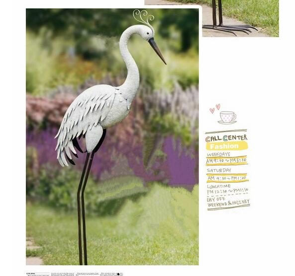 Free shipping,high-95cm,super big,lawn decoration,garden ornaments,Villa garden decoration gift white crane water birds decor