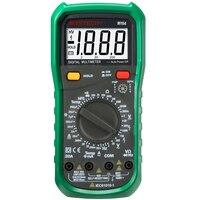 MASTECH MY64 Цифровой мультиметр; Емкость Температура метр тестер hfe с AC/DC Напряжение Ток Сопротивление измерение емкости