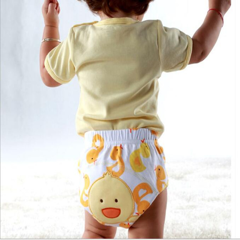 2017 10 Pieces Baby diapers Washable Reusable Nappies Grid/Cotton Training Pant Cloth Diaper Baby Winter Summer Version Diapers