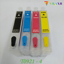 T0921 Refillable Ink cartridge For Epson - T0924 Stylus CX4300 TX117 T26 T27 TX106 TX119 TX109 C91 C51 Printer