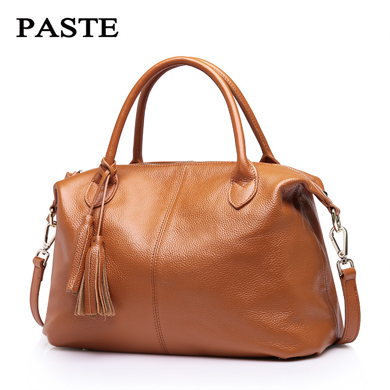 2018 Genuine Leather Women tassel Bag Fashion Handbag big capacity Shoulder Bag lady Messenger crossbody bag alta calidad bolsos women bag set top handle big capacity female tassel handbag fashion shoulder bag purse ladies pu leather crossbody bag