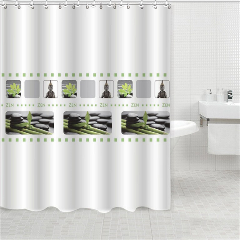 High   End Bathroom Polyester Shower Curtain Waterproof And Moldy Thickened  Buddha Cut Curtains Submarine Mobs Shower Curtain