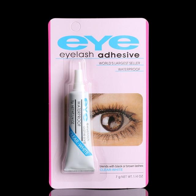 48019a733ca 1PC Clear White Black Waterproof False Eyelashes Makeup Adhesive Eye Lash  Glue Beauty Cosmetic Accessories Tools
