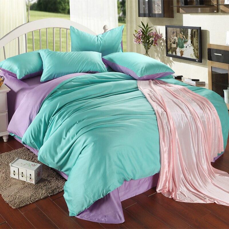 Luxury Purple Turquoise Bedding Set King Size Blue Green