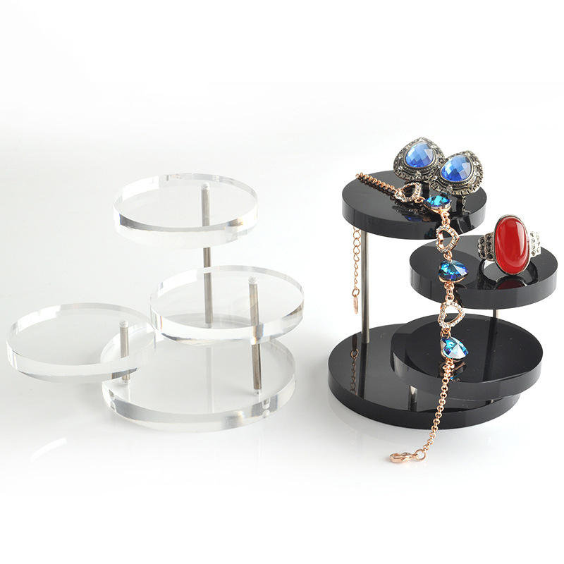 New Jewelry Organizer Jewelry Display Stand Clear 3 Tray Acrylic