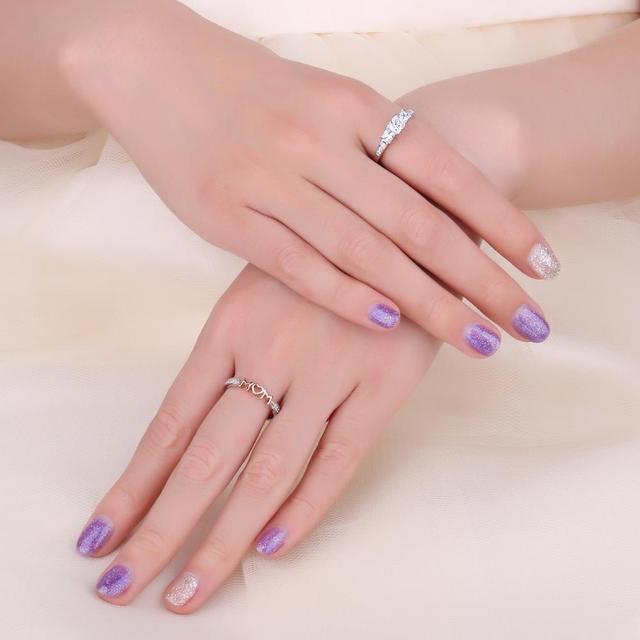 MOM Sterling Silver Ring