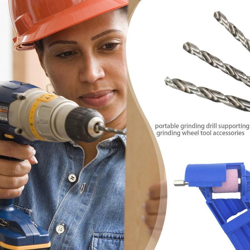 Andifany 2-12.5mm Drill Bit Sharpener Portable Corundum Grinding Wheel Tool Corundum Resisting Drill Polishing Grinder Wheel Tool