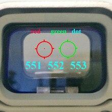Lunette de visée holographique à points rouges, fusil de chasse réflexe à points rouges avec monture de 20mm pour Airsoft G, 551 552 553 558