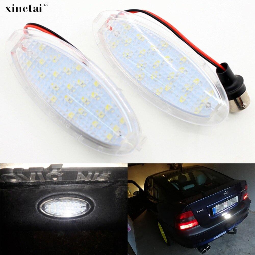1 stück Canbus Fehler Free LED Anzahl Kennzeichen Licht für Opel Corsa B Vectra B fließheck Astra F fließheck kabriolet 12 v LED
