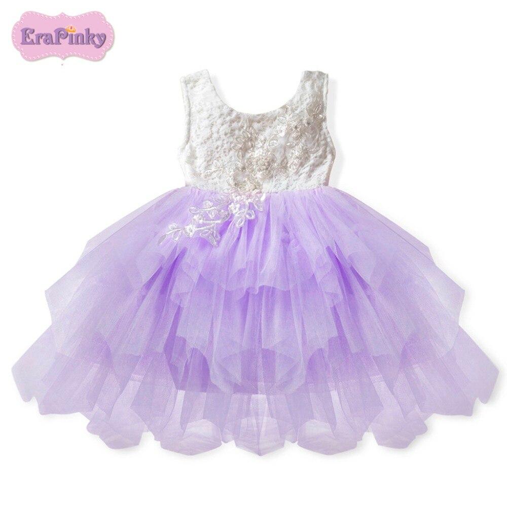 Erapinky princesa vestido para niños Girls Lace Ruffles niñas ...