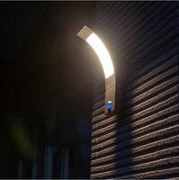 Открытый Настенный Светильник 6 Вт свет с PIR датчик Бра IP54 для сада Вилла балкон настенные светильники