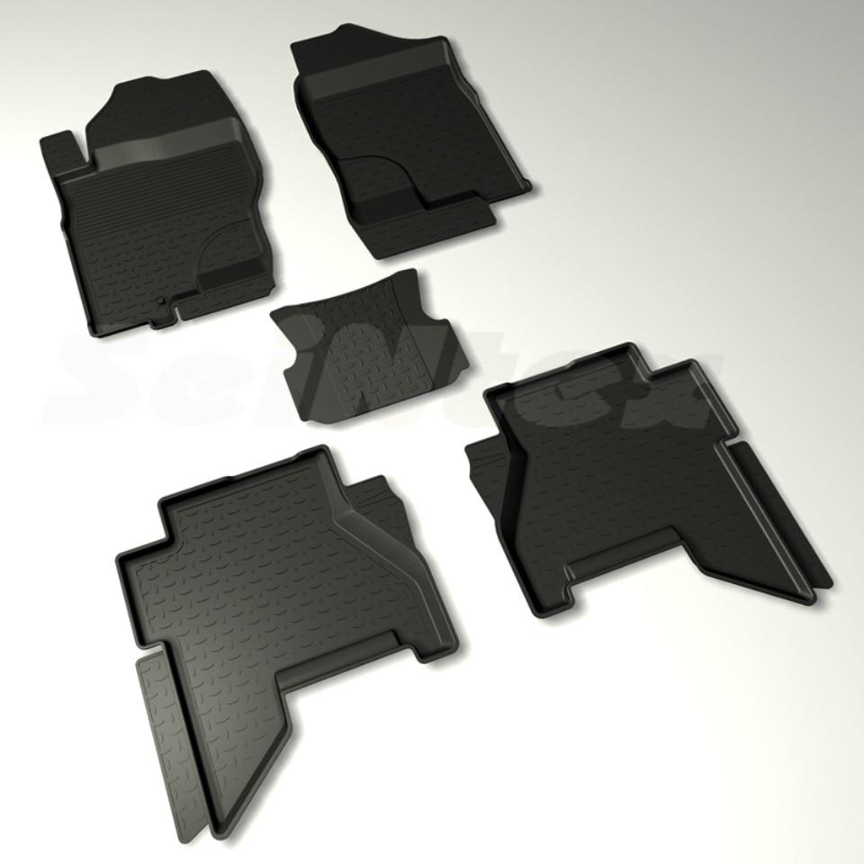 цена For Nissan Pathfinder R51 2004-2010 rubber floor mats into saloon 5 pcs/set Seintex 88381 в интернет-магазинах