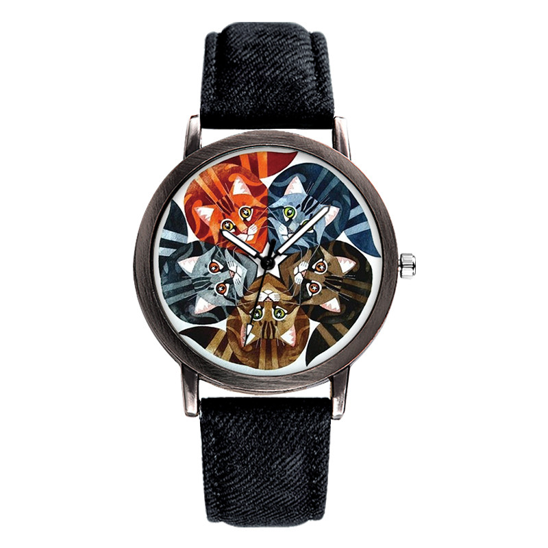 Couple Watch BAOSAILI 2018 Top Brand Dress Clock Lovely Cats Unisex Wrist Watch Saats Hot Reloj Mujer