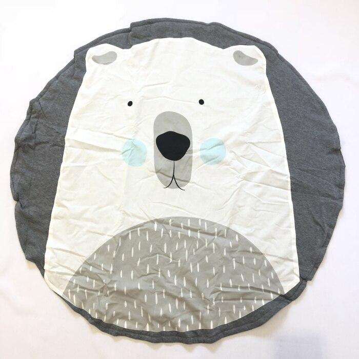 95 см детская игра коврики круглый коврик, мат хлопок Лебедь Ползания одеяло пол ковер для детской комнаты украшения INS подарки для малышей - Цвет: Polar Bear 90cm
