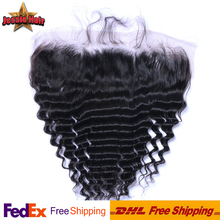 Brazilian Lace Frontal Closure13x4 Deep Wave Ear To Ear Lace Frontals With Baby Hair Virgin Human Hair Full Lace Frontal Closure
