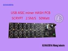 KUANGCHENG Горнодобывающей промышленности продать 2.5MH G-лезвие USB ASIC шахтер Gridseed Scrypt Шахтер горнодобывающей litecoin dogecoin Лезвие 1 PCB