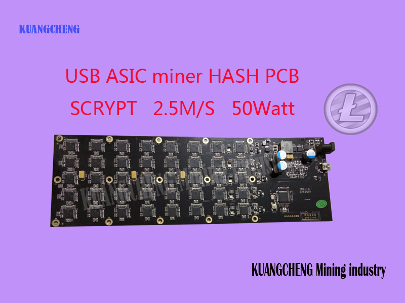 Kuangcheng industria minera vender gridseed 2.5MH g-blade USB ASIC minero scrypt minero dogecoin litecoin minería Hoja 1 PCB