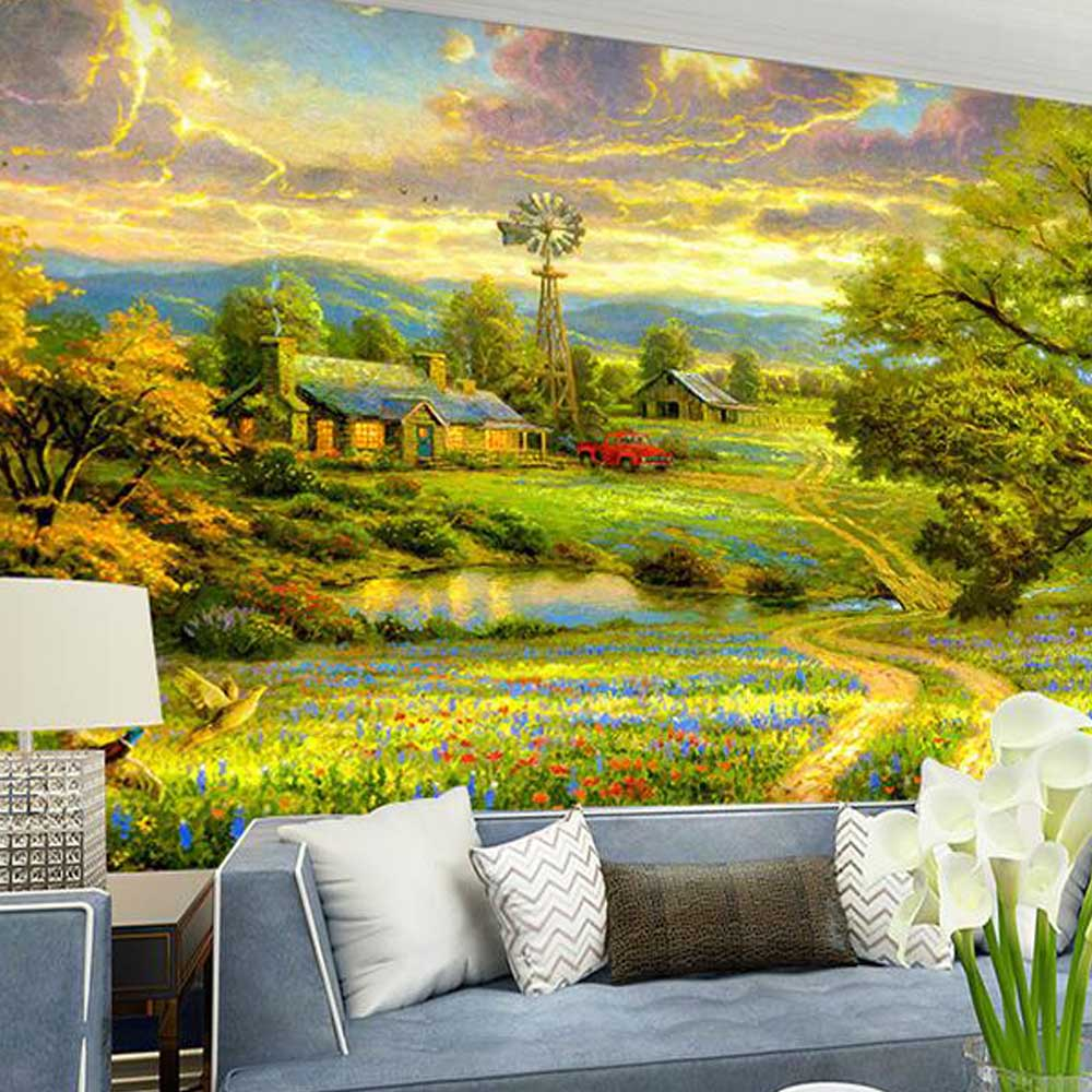 online get cheap landscape wall mural aliexpress com alibaba group american style photo mural embossed 3d landscape wall mural wall covering murals for living room wallpaper