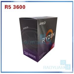 Image 1 - AMD Ryzen 5 3600 R5 3600 3.6 GHz 6 Core 12 ด้าย CPU โปรเซสเซอร์ 7NM 65W L3 = 32M 100 000000031 ซ็อกเก็ต AM4 Cooler พัดลม