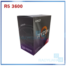 AMD Ryzen 5 3600 R5 3600 3.6 GHz 6 コア Twelve スレッド CPU プロセッサ 7NM 65 ワット L3 = 32 メートル 100 000000031 ソケット AM4 クーラーファン