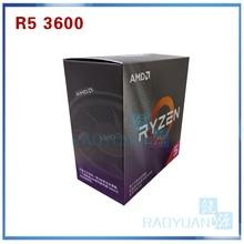 Процессор AMD Ryzen 5 3600 для ПК, центральный процессор для компьютера, 6 ядер, 12 нитей, мощность 65 Вт, частота 3600 ГГц, L3 = 32M, разъем AM4, с охлаждающим вентилятором