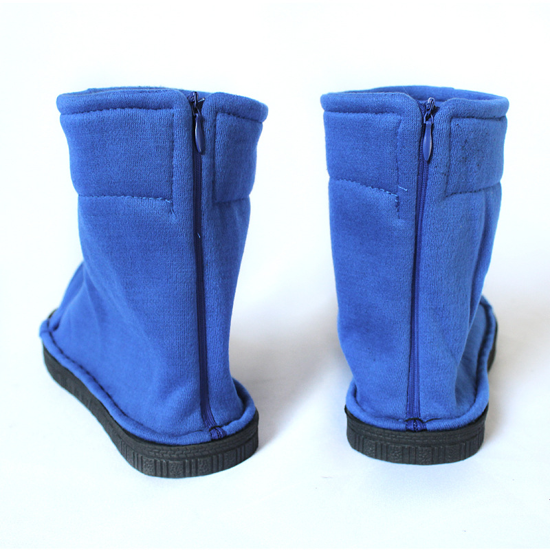 Biamoxer Cosplay Shoes Top Naruto Konoha Ninja Village Black Blue Sandals Boots Costumes Gift