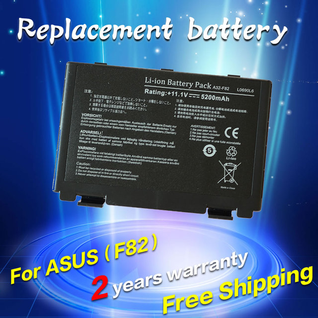 JIGU Battery For Asus a32-f82 a32-f52 a32 f82 F52 k50ij k50 K51 k50ab k40in k50id k50ij n82 K40 K42 k42j k50in k60 k61 k70