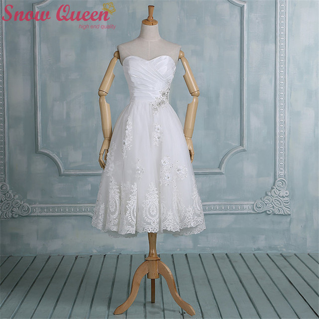 Aliexpress.com : Buy Real Samples New 2016 white short wedding ...