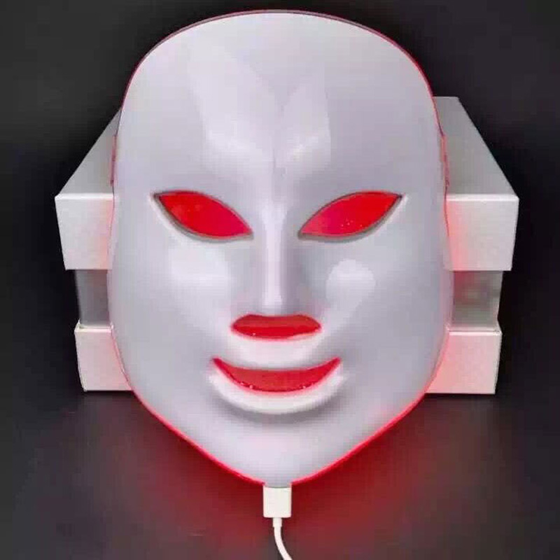 3 Colors Facial Mask Photon LED Skin Rejuvenation  Light Therapy Wrinkle Acne Remover Skin Care Anti Aging Beauty Instrument 30 7color led mask photon light skin rejuvenation therapy facial mask ice roller stainless steel blackhead needle bend curved