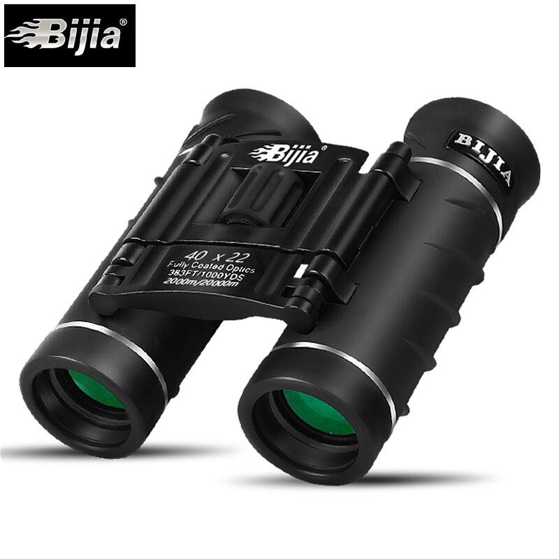 BIJIA 40X22 caza de alta calidad a prueba de agua binoculares portátiles telescopio caza profesional óptico deportes al aire libre ocular