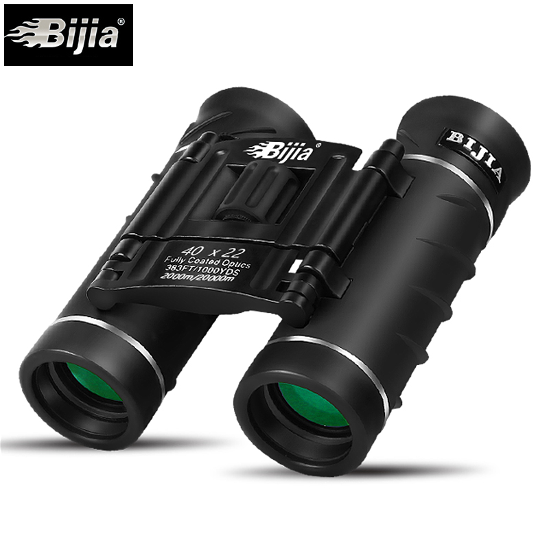 BIJIA 40X22 Hunting High times waterproof portable binoculars telescope Professional hunting optical outdoor sports eyepiece bijia 20x nitrogen waterproof binoculars 20x50 portable alloy body telescope with top prism for traveling hunting camping