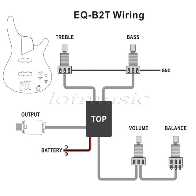 Online Shop Belcat 2 Band Active EQ Preamp Circuit for Bass Pickup 1 ...