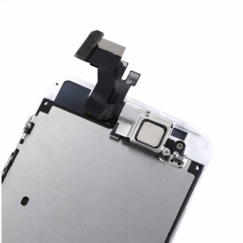 شاشة LCD تجميع كامل لآيفون 5 5s SE 6 6s تعمل باللمس محول الأرقام استبدال مع زر المنزل كاميرا أمامية كاملة LCD