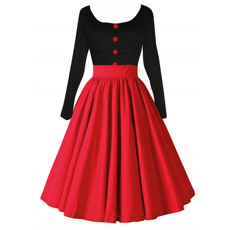 Galerry flared dress red